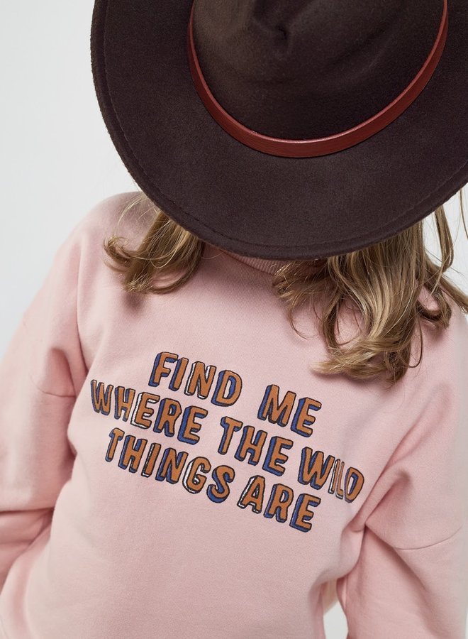 Wander & Wonder summer sweatshirt baby pink