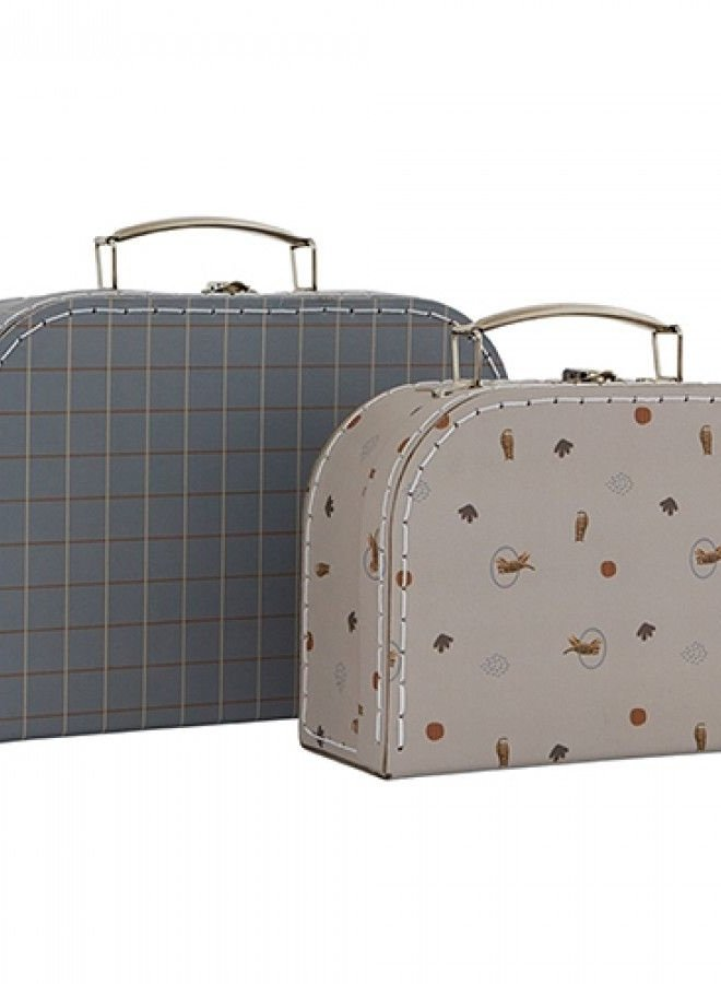 OYOY mini koffertje tiger & grit - set of 2