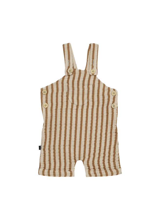 House of Jamie - Relax Dungaree Vertical Apple Cides Stripes