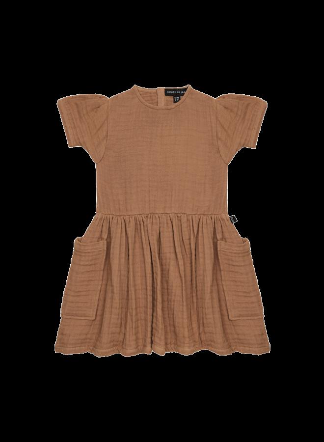 House of Jamie - Relaxed Pocket Dress Burnt Ginger
