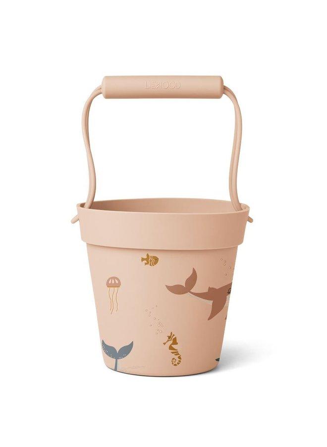 Liewood Linda bucket sea creature rose mix