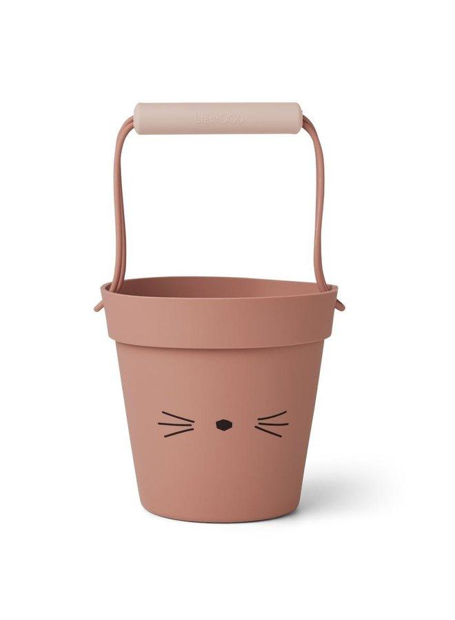 Liewood Linda bucket cat dark rose mix