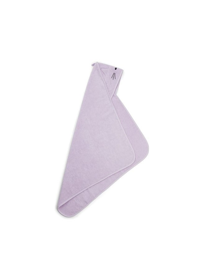 Liewood Albert hooded towel - cat light lavender