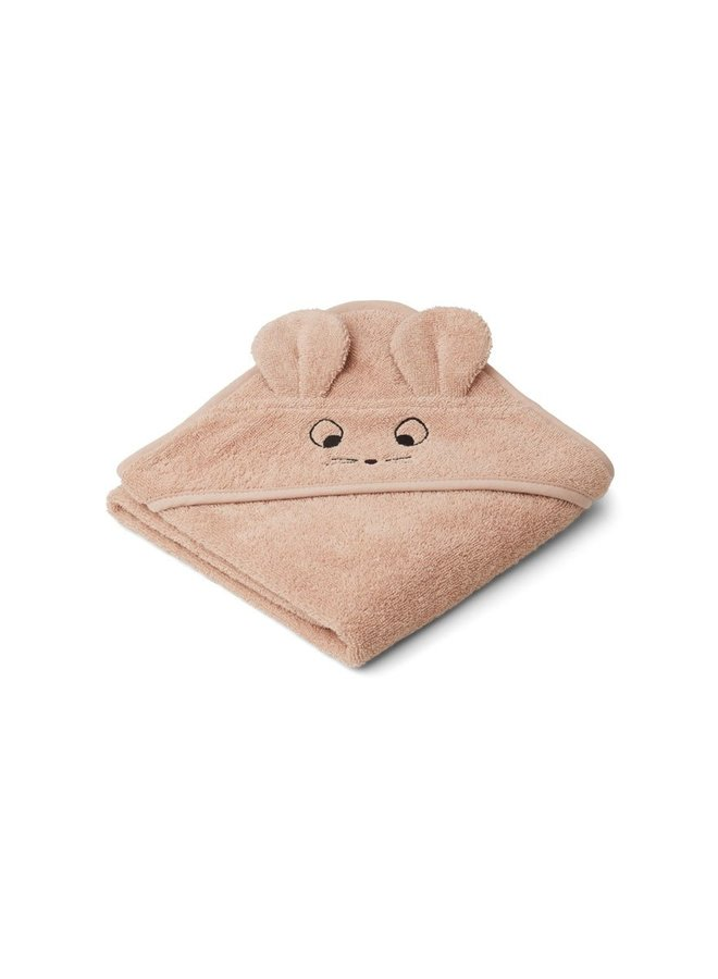 Liewood Albert hooded towel - mouse pale tuscany