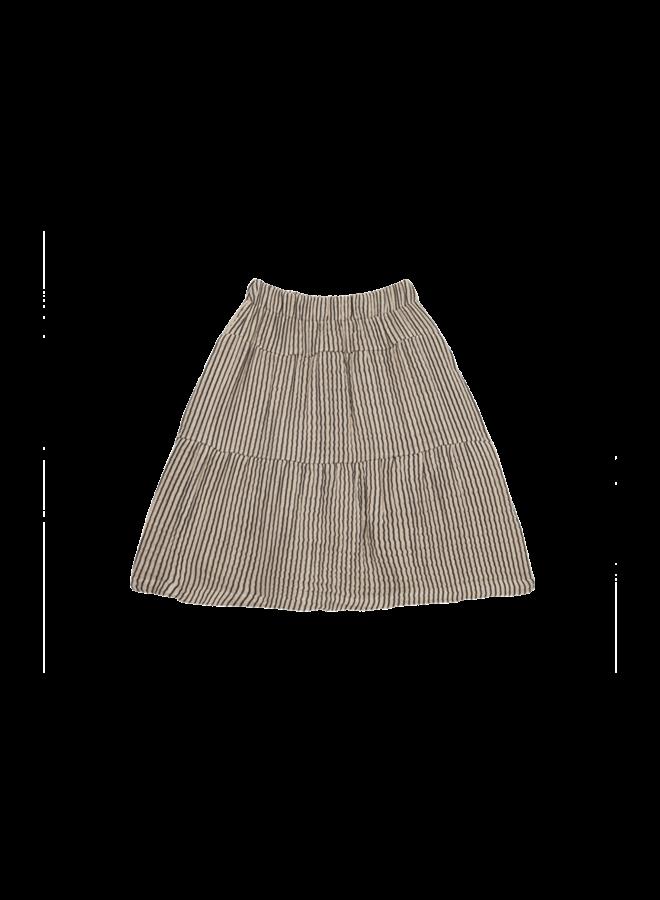 House of Jamie - Midi Skirt Charcoal Sheer Stripes