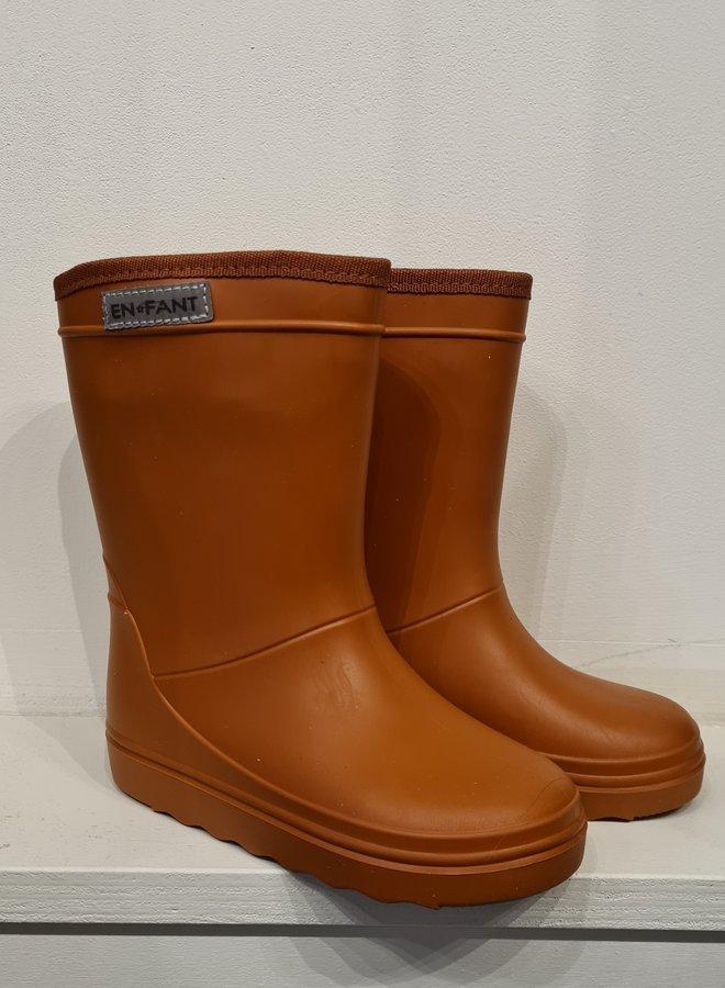En Fant rubber rainboots leather brown
