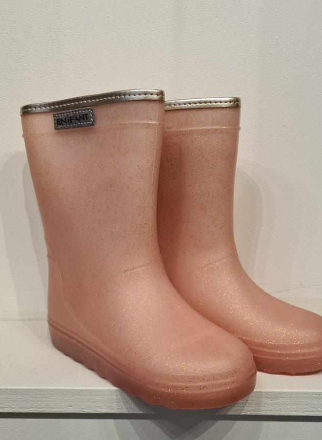 Enfant rubber rainboots cameo rose