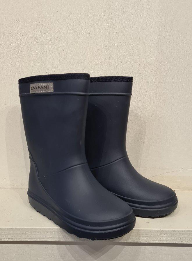 Enfant rubber rainboots blue night