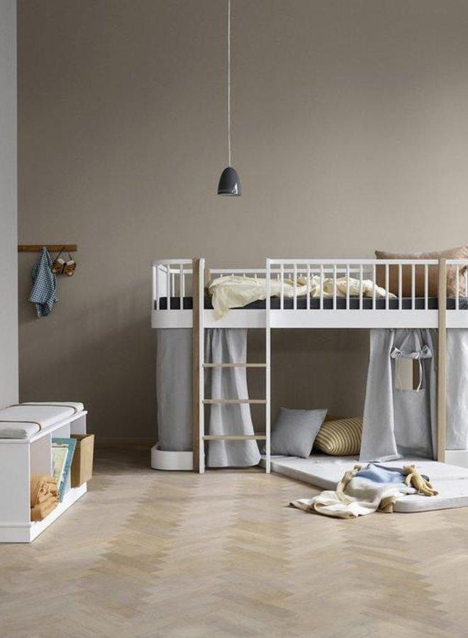 Oliver Furniture Wood original low loft bed white/oak