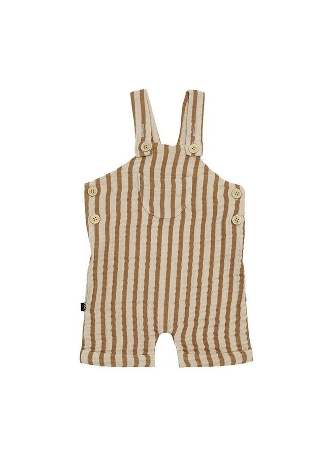 House of Jamie - Relaxed Dungaree Vertical Apple Cider Stripes