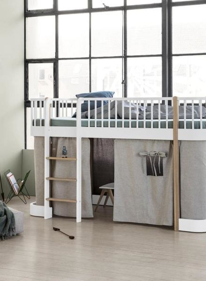 Oliver Furniture curtain for Wood Low Loft and Bunk bed, Nature