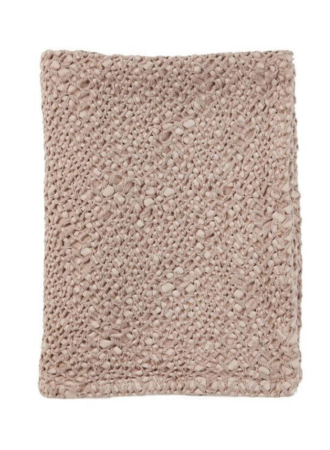 Mies & Co - ledikant deken honeycomb blossom powder