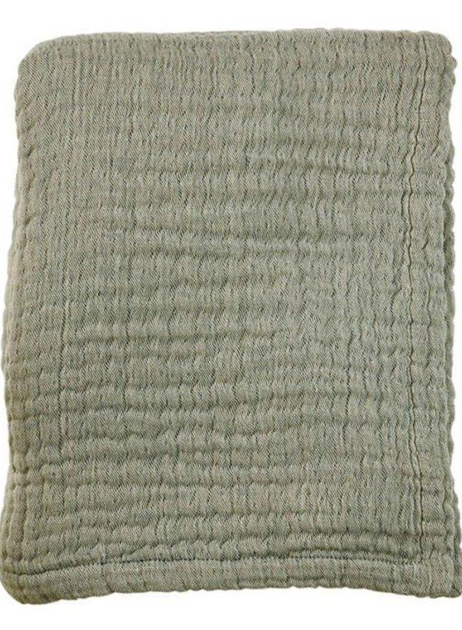 Mies & Co mousseline blanket Thyme Green (ledikant)