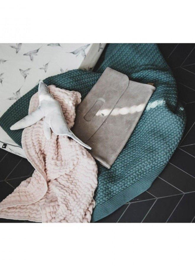 Mies & Co wiegdeken Deep Forest - soft knitted