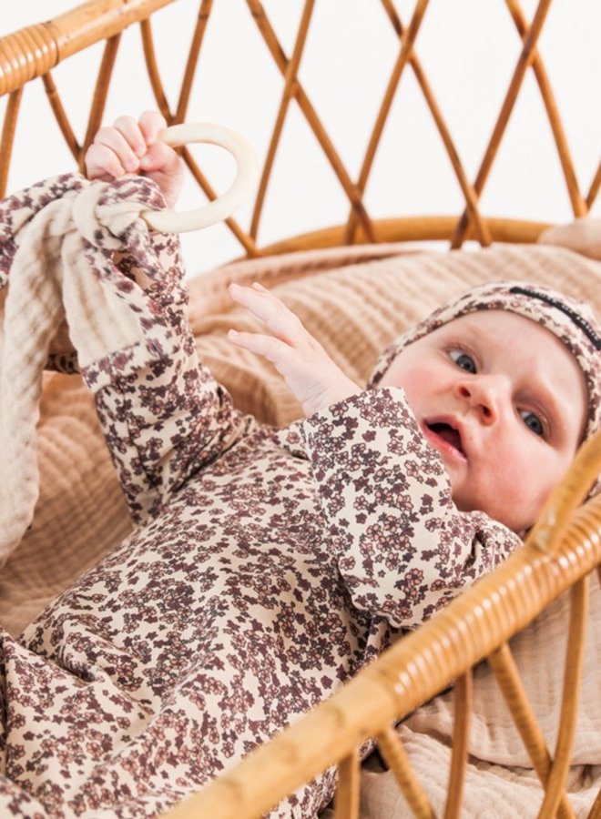 House of Jamie - Teething Swaddle Ring Rose Dawn Blossom