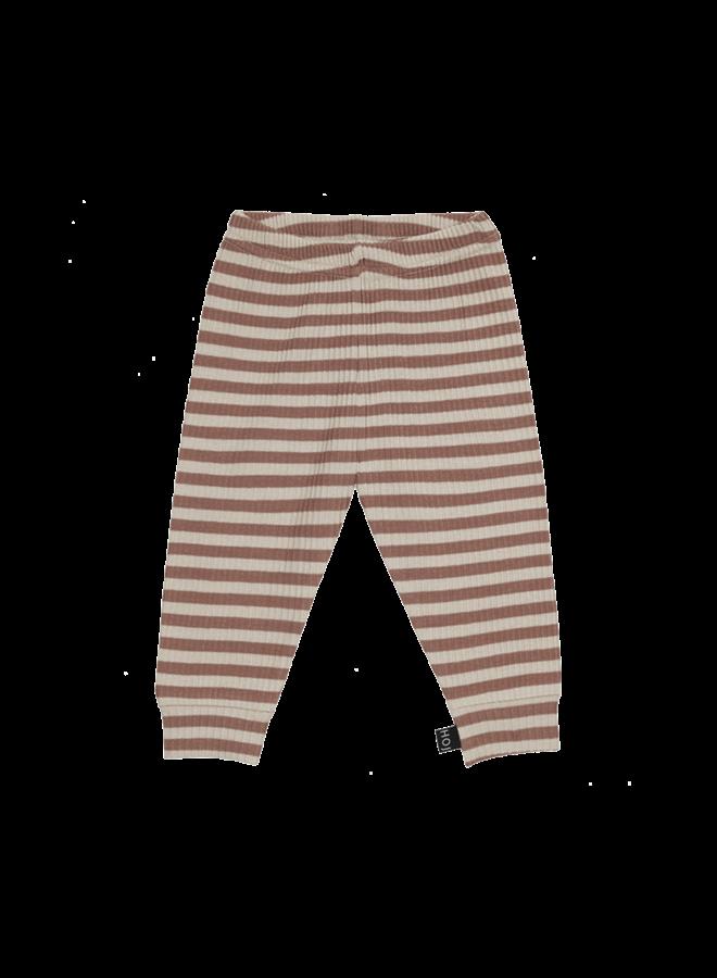 House of Jamie - Rib legging Baked Clay Stripes