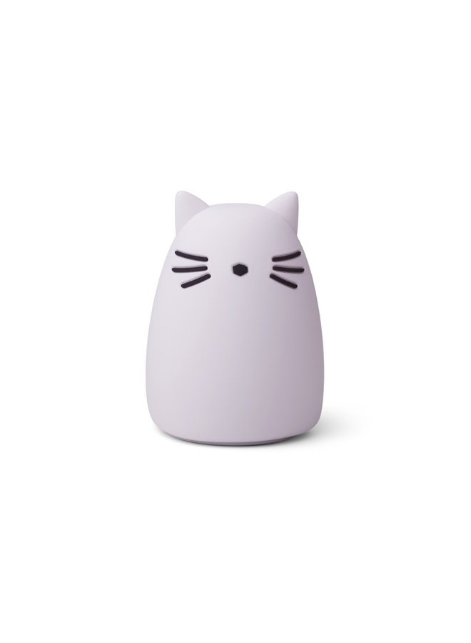 Liewood nachtlampje winston cat light lavender