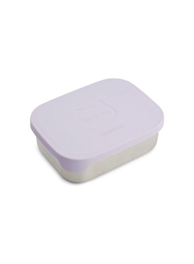 Liewood - Arthur lunchbox Cat light lavender