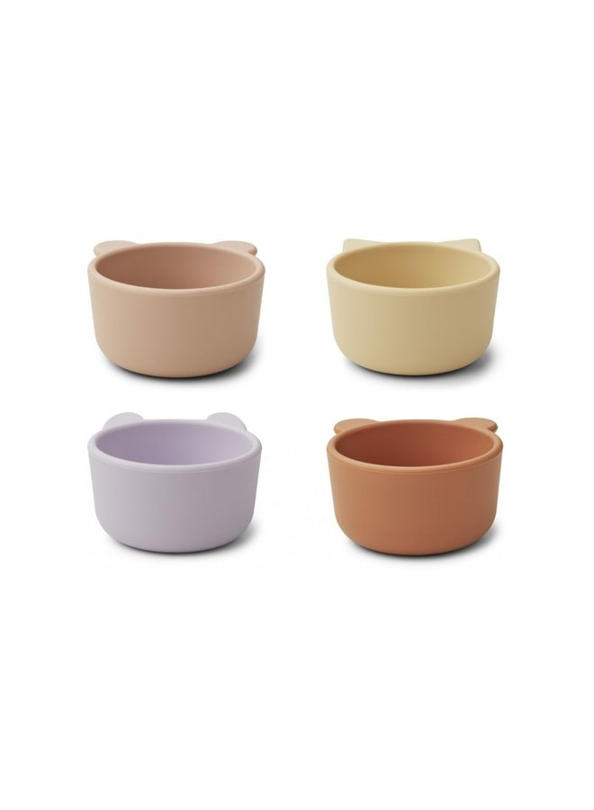 Liewood - Malene silicone bowl 4-pack light lavender multi mix