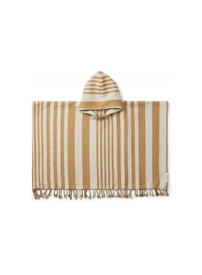 Liewood - Roomie Poncho stripe mustard/sandy