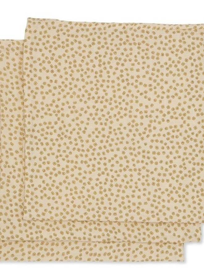 Konges Slojd 3-pack muslin cloth buttercup yellow