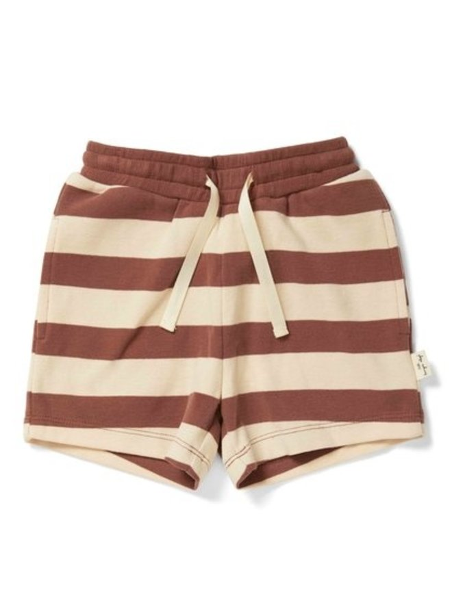 Konges Slojd - Lou shorts striped fig brown