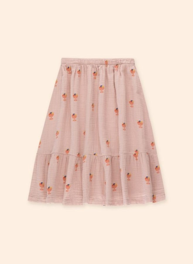 TinyCottons - ice cream cup long skirt dusty pink/papaya