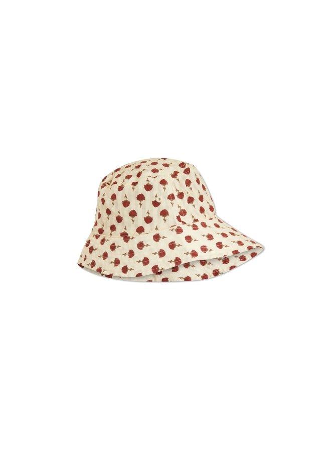 Konges Slojd - acacia sun hat poppyflower red