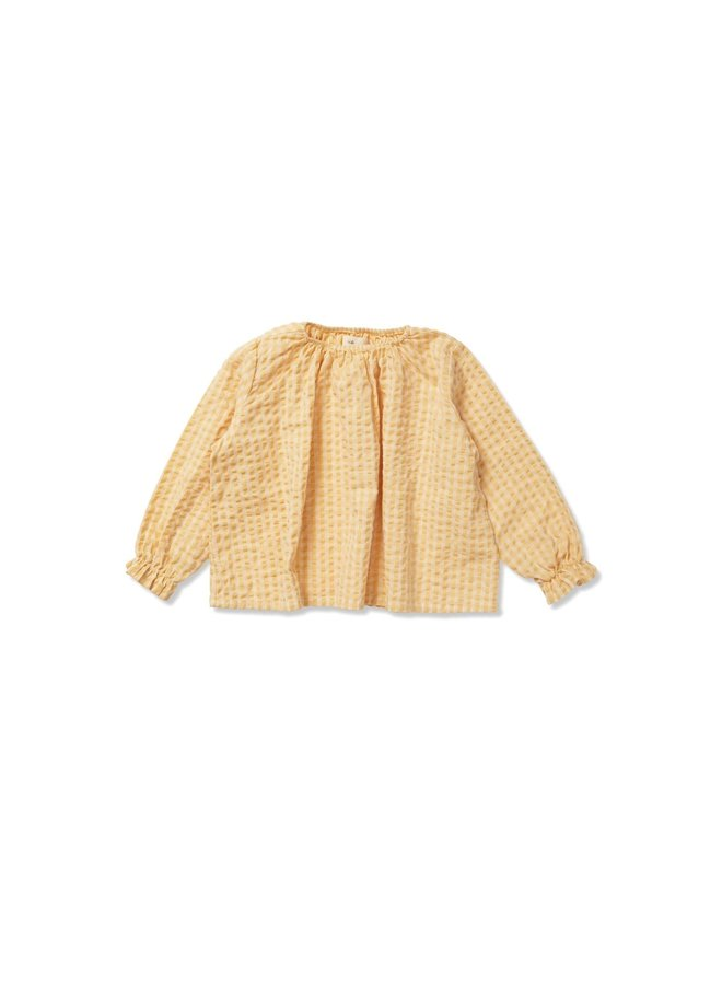 Konges Slojd - acacia blouse yellow check