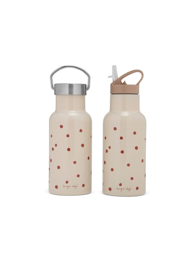 Konges Slojd - thermo bottle rasberry/red dot