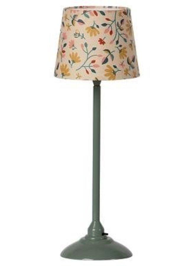 Maileg miniture floor lamp dark mint