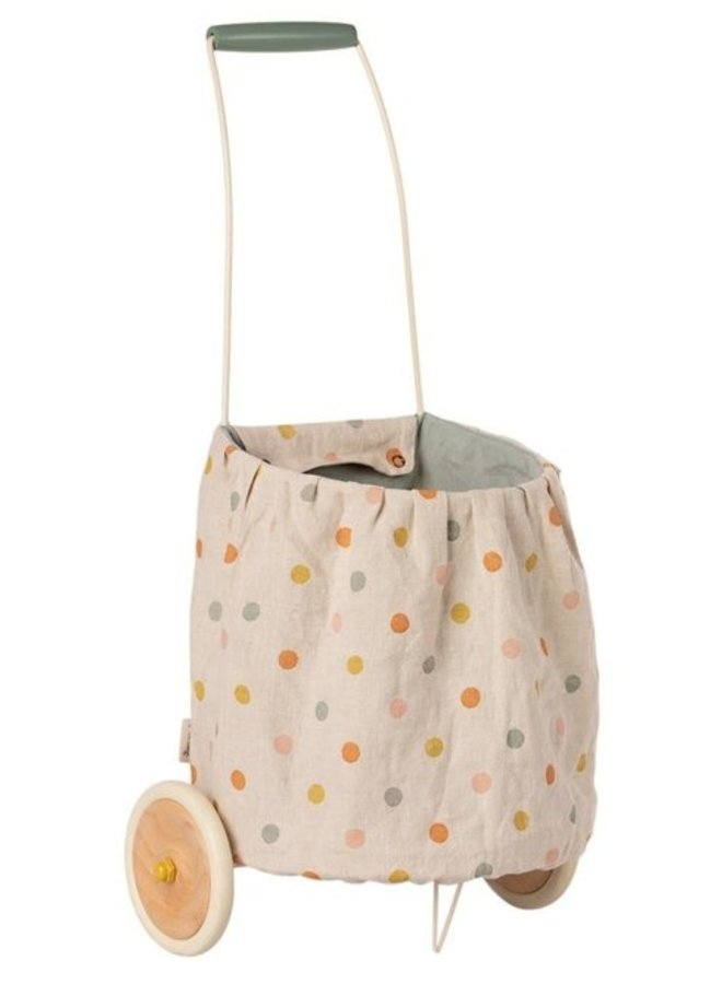 Maileg - Trolly multi color dots blue