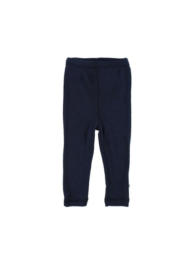 Smallstuff legging merino wool navy elephant