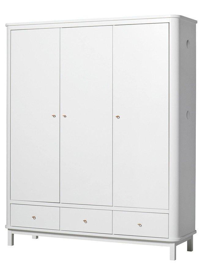 Oliver Furniture Wardrobe 3 doors, white