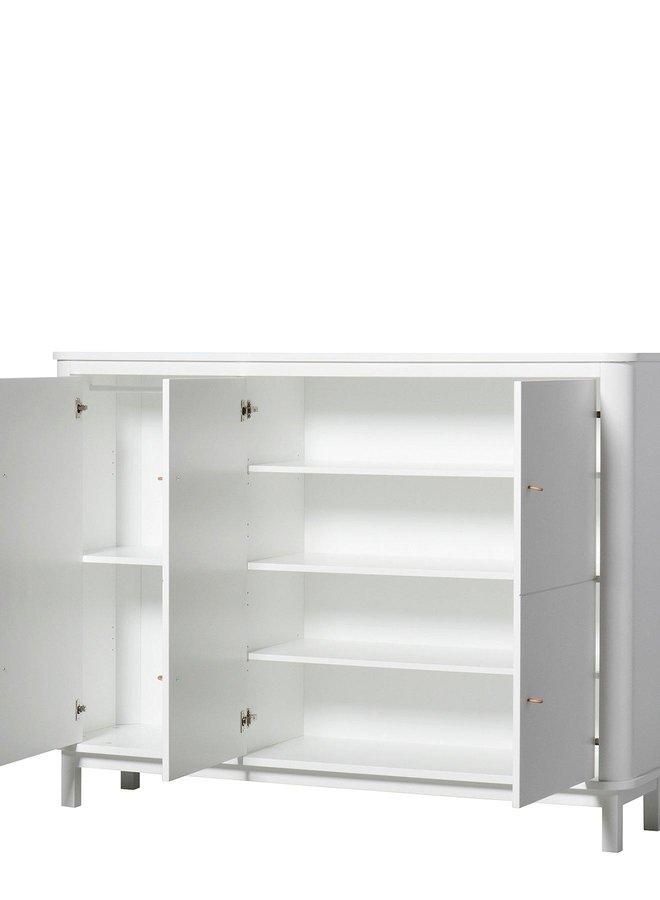 Oliver Furniture Multi cupboard 3 doors, white
