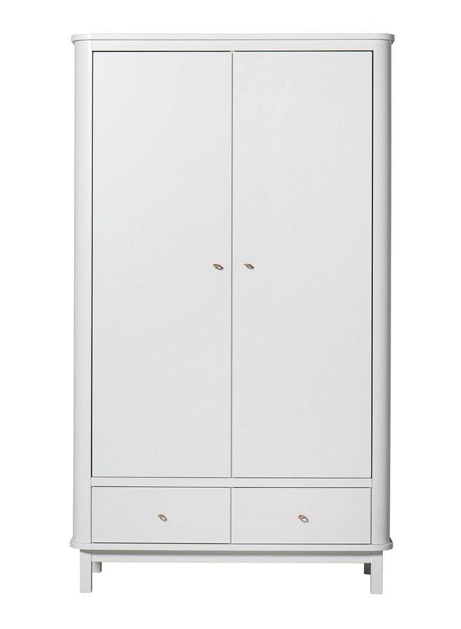 Oliver Furniture Wardrobe 2 doors, white
