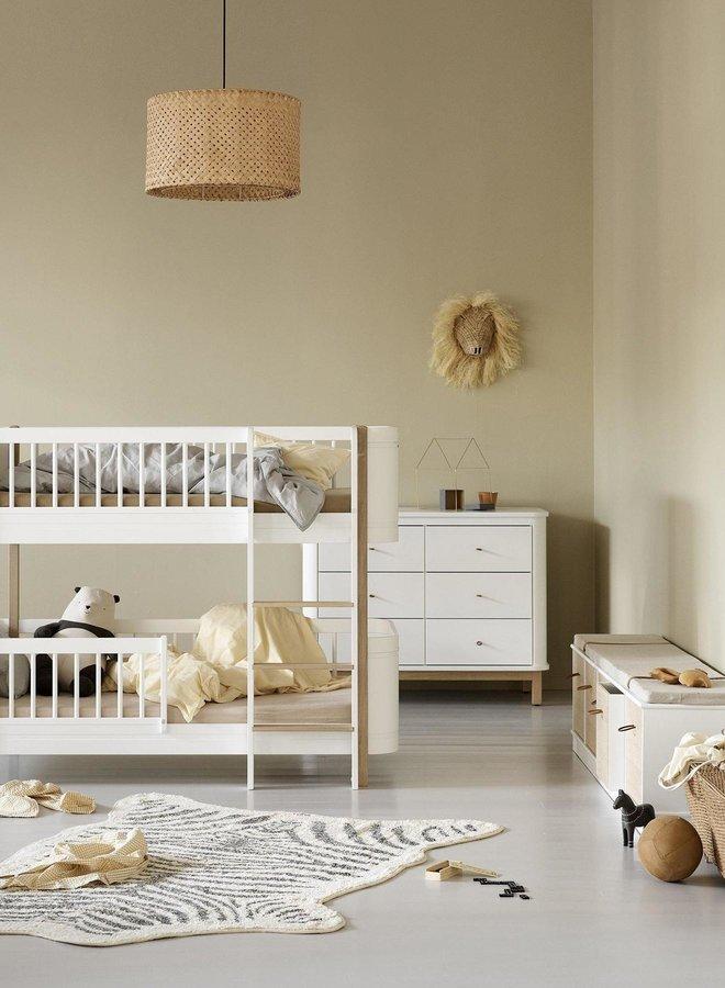 Oliver Furniture Wood dresser 6 drawers white/oak