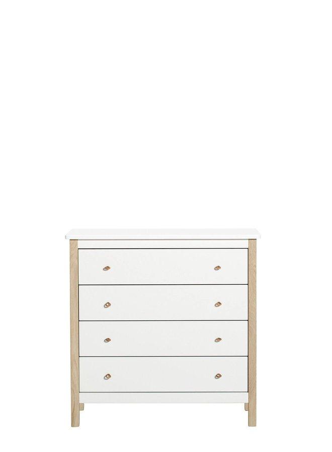 Oliver Furniture Wood dresser 4 drawers white oak