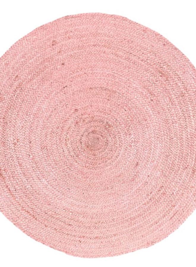 Vloerkleed jute roze
