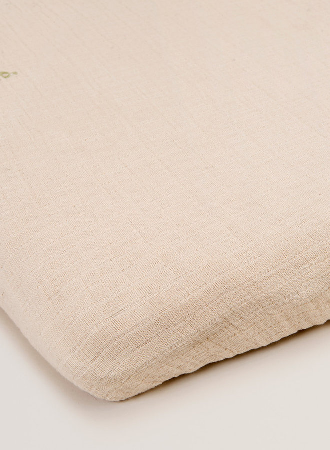 Garbo&Friends - Eggshell Muslin Junior Fitted Sheet 60x120