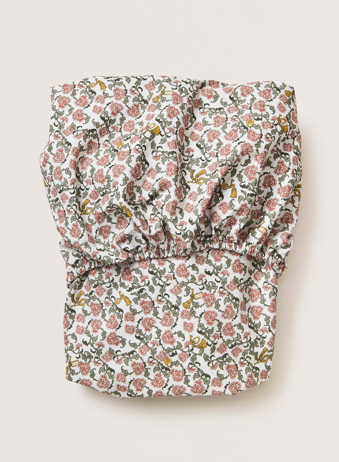 Garbo&Friends - Floral Vine Junior Fitted Sheet 60x120