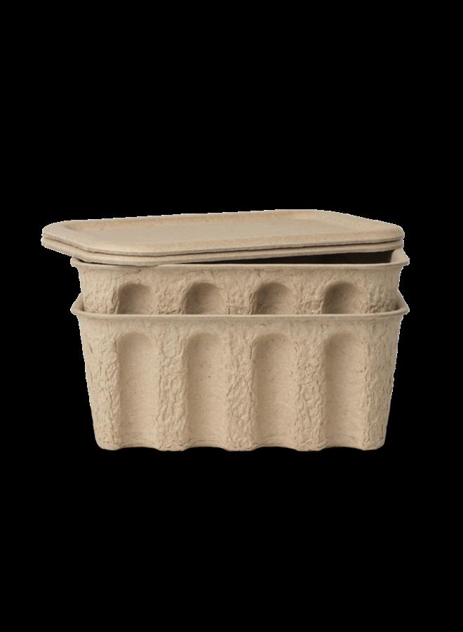 Ferm Living paper pulp box Small / set 2