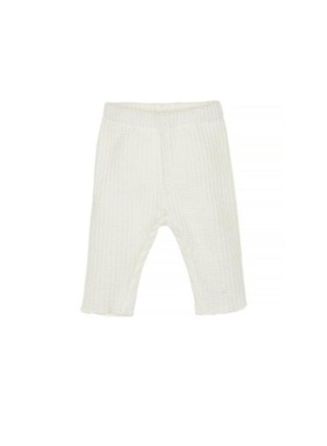 Nanami Baby rib pants knitted off-white