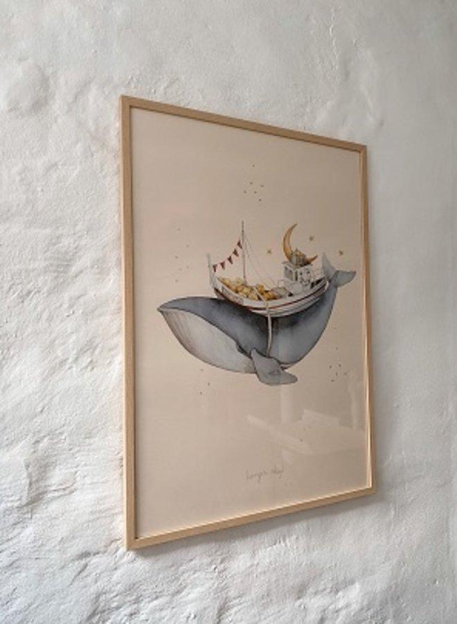 Konges Slojd - Poster whale