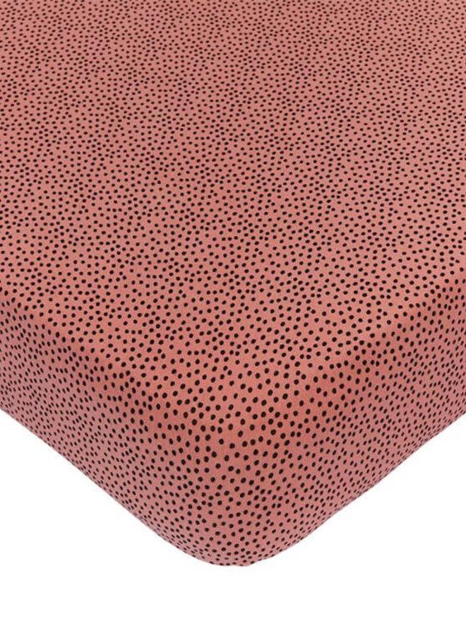 Mies & Co hoeslaken ledikant Cozy Dots Redwood
