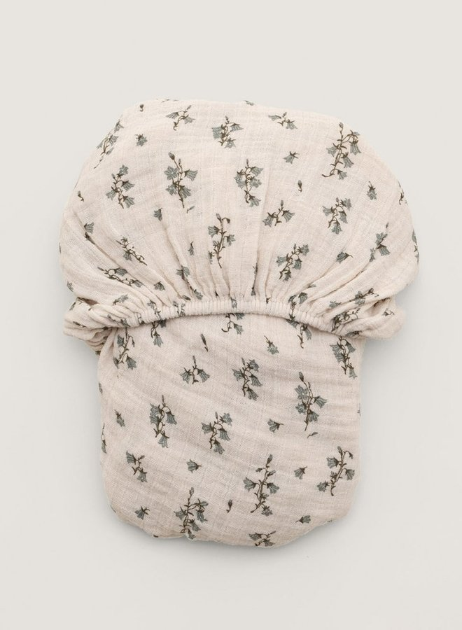 Garbo&Friends - Bluebell Muslin Adult Fitted Sheet