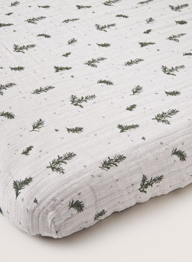 Garbo&Friends - Rosemary Muslin Adult Fitted Sheet