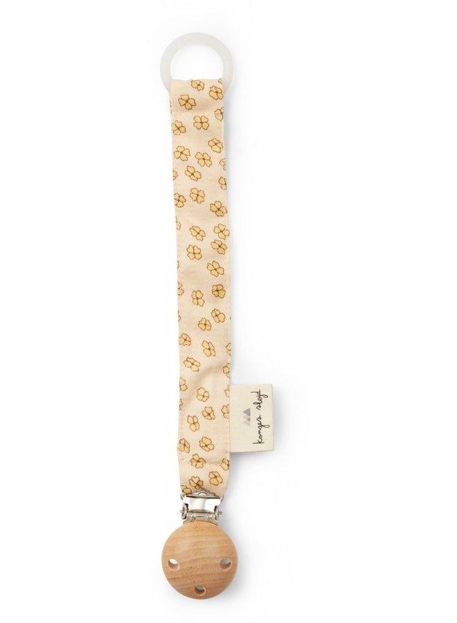 Konges Slojd - pacifier strap buttercup yellow