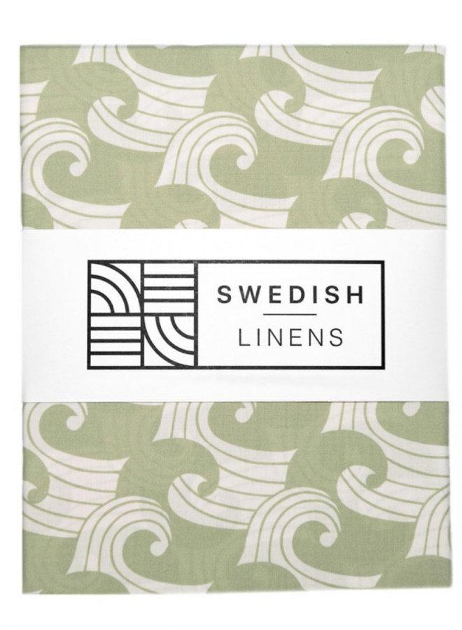 Swedish Linens - waves sage green