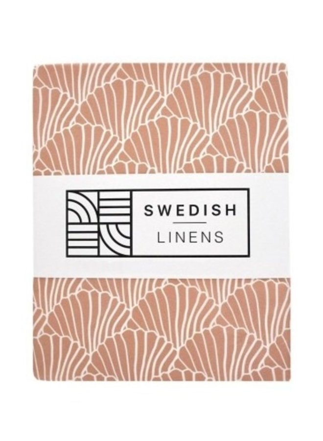 Swedish Linens - seashells terracotta pink